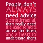 no advise
