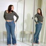 women jeans mirror